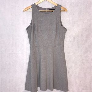 WHBM Grey Skater Dress with Pockets Size 14
